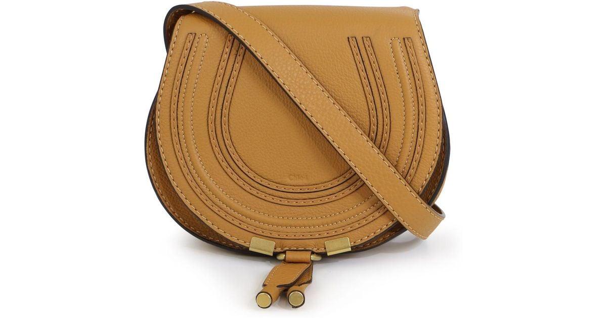 32ec29e02db Chloé Marcie Small Bag Autumnal Brown in Brown - Lyst