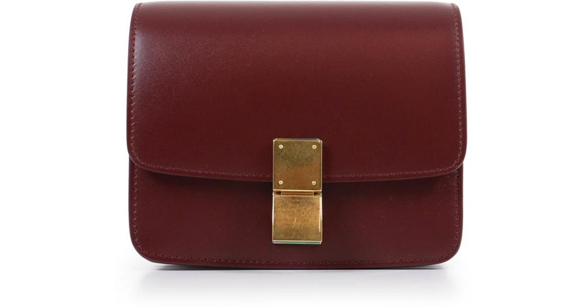e8215ec9a63a ... save off 853c0 8f800 Céline Classic Small Box Bag Bordeaux - Lyst ...