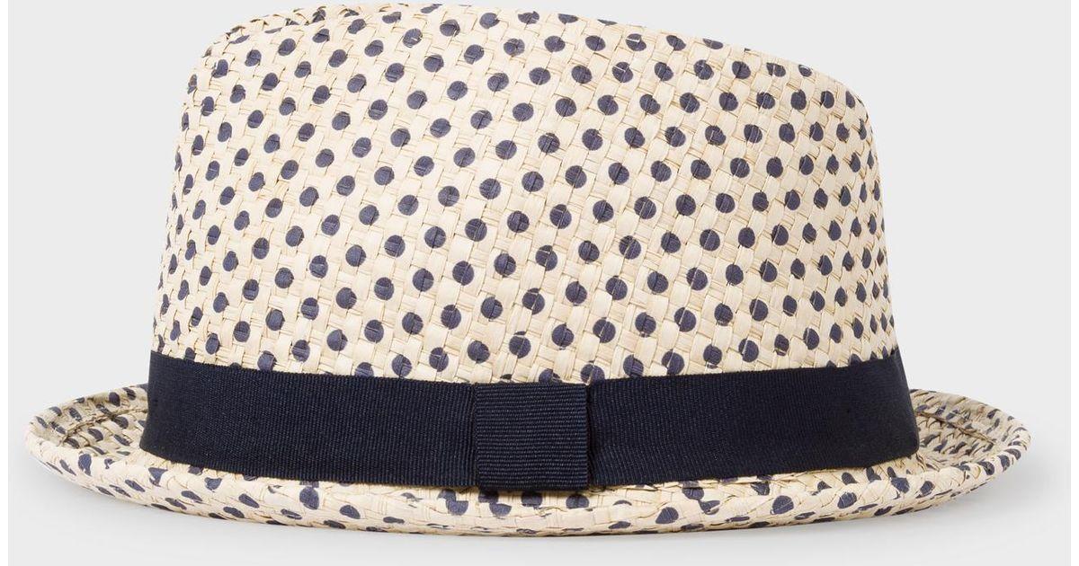 9fbd2ae237638 Paul Smith Polka Dot Trilby Hat for Men - Lyst