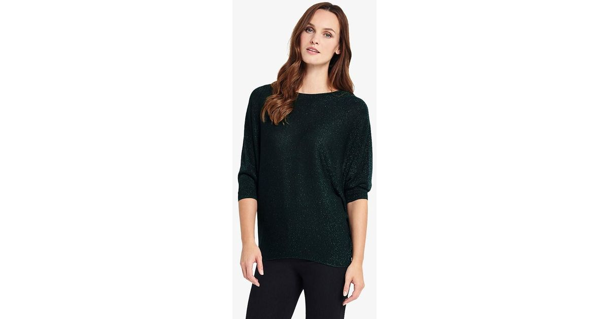 c1d0732d40078 Phase Eight Becca Shimmer Batwing Jumper - Lyst