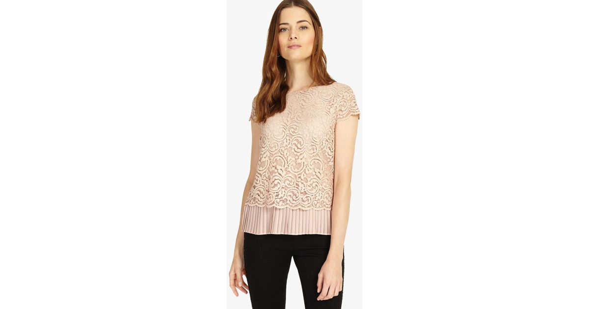 b5e4ad9d1be985 Phase Eight Lexie Lace Blouse - Lyst