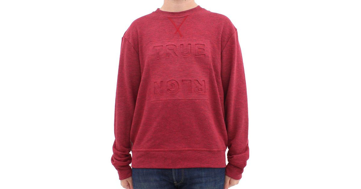 7ffc756f True Religion Logo Sweat Shirt Red in Red for Men - Lyst