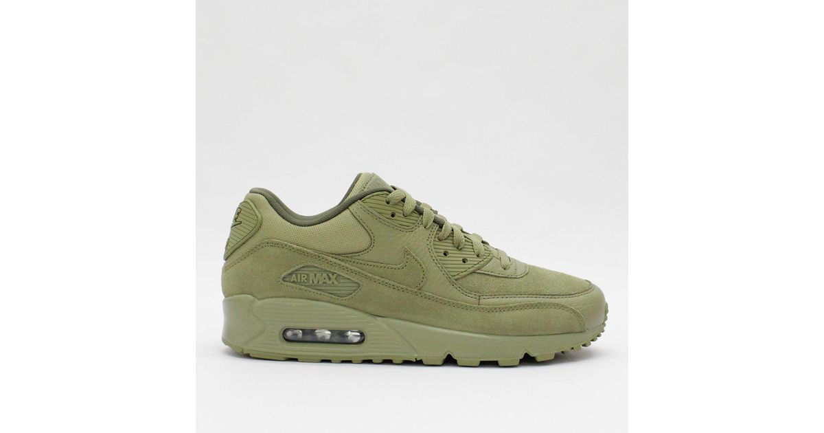 detailed look 79649 bbbf9 ... Lyst - Nike Trainers Nike Air Max 90 Premium Olive 700155 202 in Green  . ...