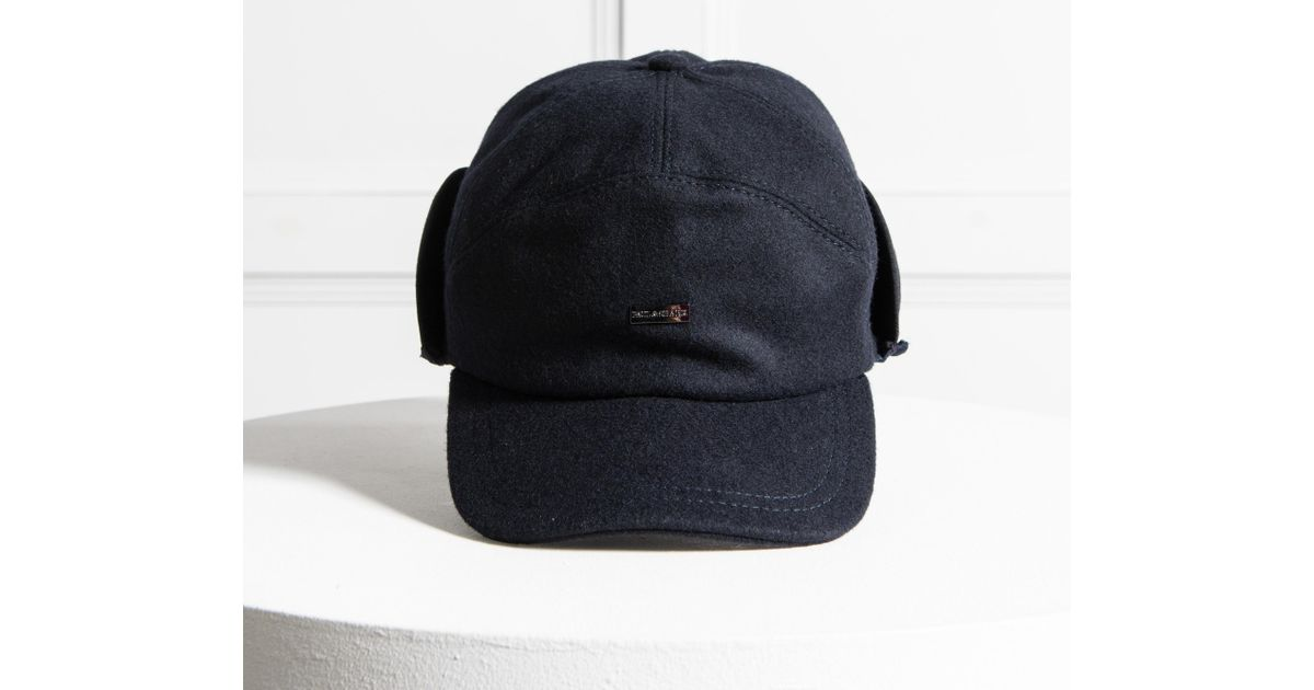Lyst - Paul   Shark Flannel Cap With Neck Flap Navy in Blue for Men ea4c7b7e5a74