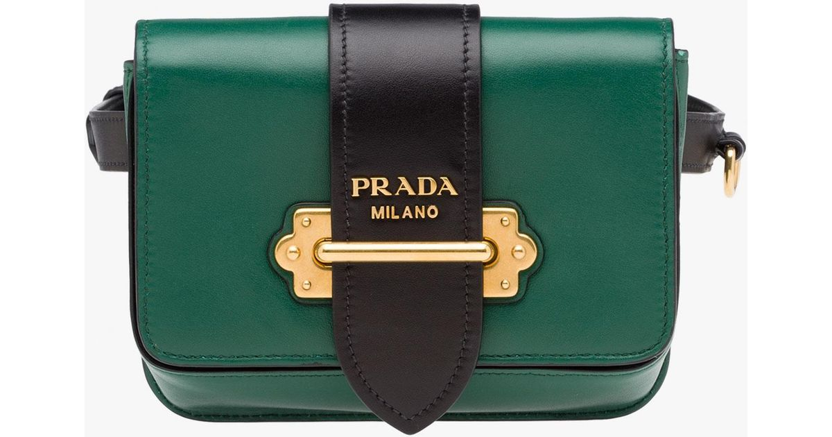 92ce38dc5110 Lyst - Prada Cahier Bag in Green