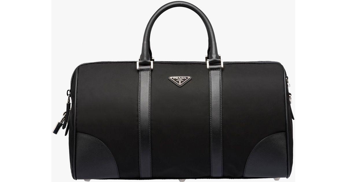d2341bc986b4 Prada Weekender Bag in Black for Men - Lyst