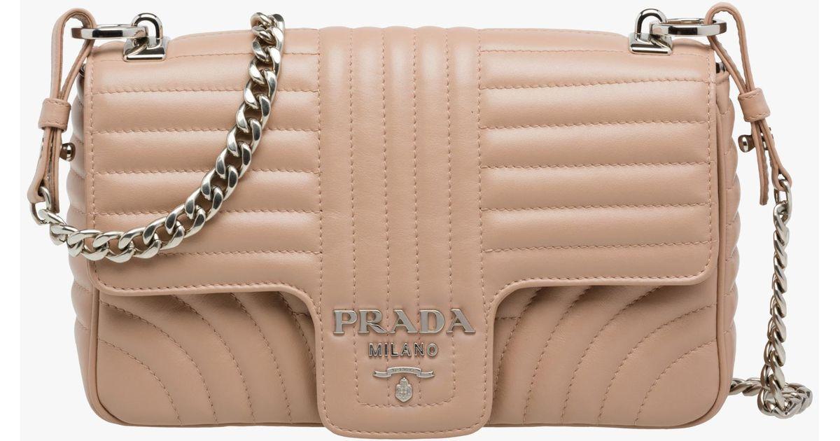 096531812d47 Prada Diagramme Leather Shoulder Bag - Lyst