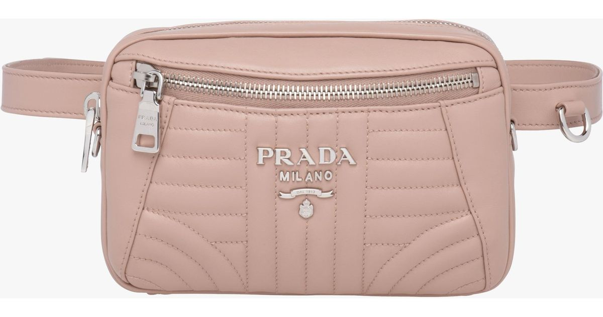 bd9b44816bbd ... new zealand lyst prada diagramme leather belt bag in pink dcc5f e4cc2