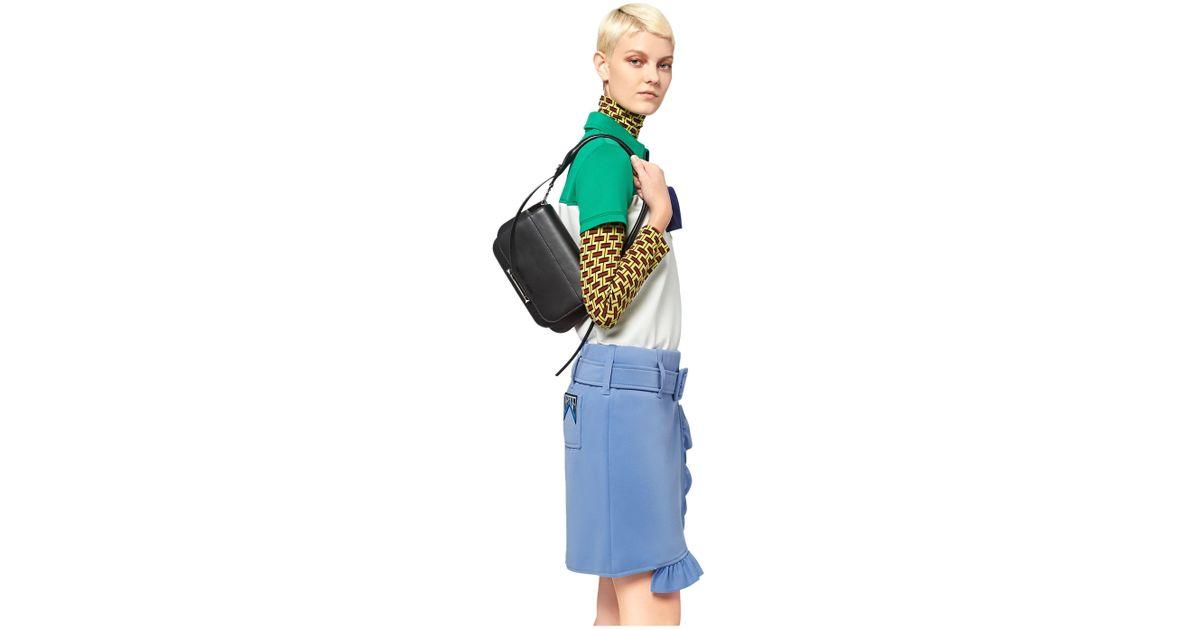 942d4336c53e Lyst - Prada Sybille Leather Shoulder Bag in Black