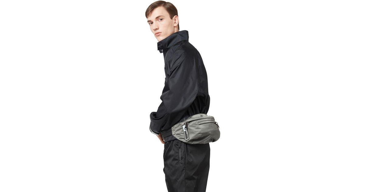 c6fc02b50055 Prada Technical Fabric Belt Bag in Black for Men - Lyst
