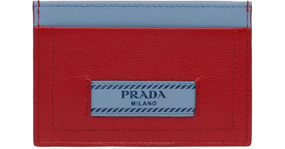 64ea5b4ab49a ... where can i buy lyst prada etiquette leather credit card holder in red  b133d c9908
