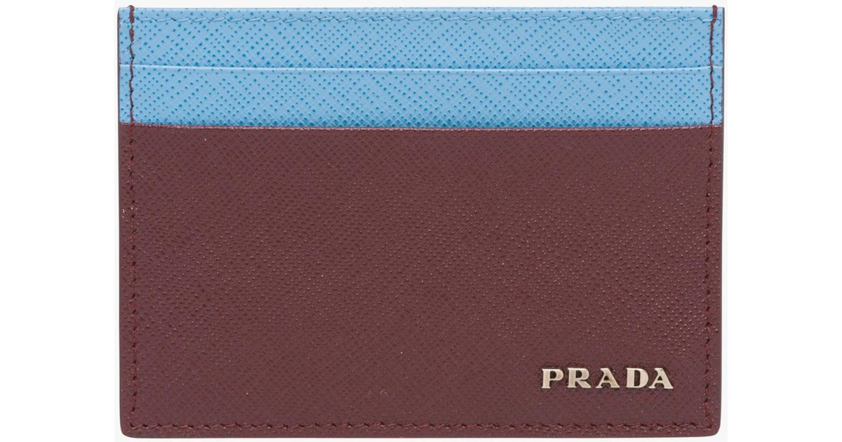 f6b0dd76 cheapest prada card holders blue brown e7521 89a02