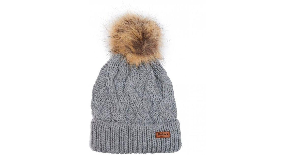 c1c2dd30463 Lyst - Barbour Ashridge Beanie Pom Pom Hat in Gray