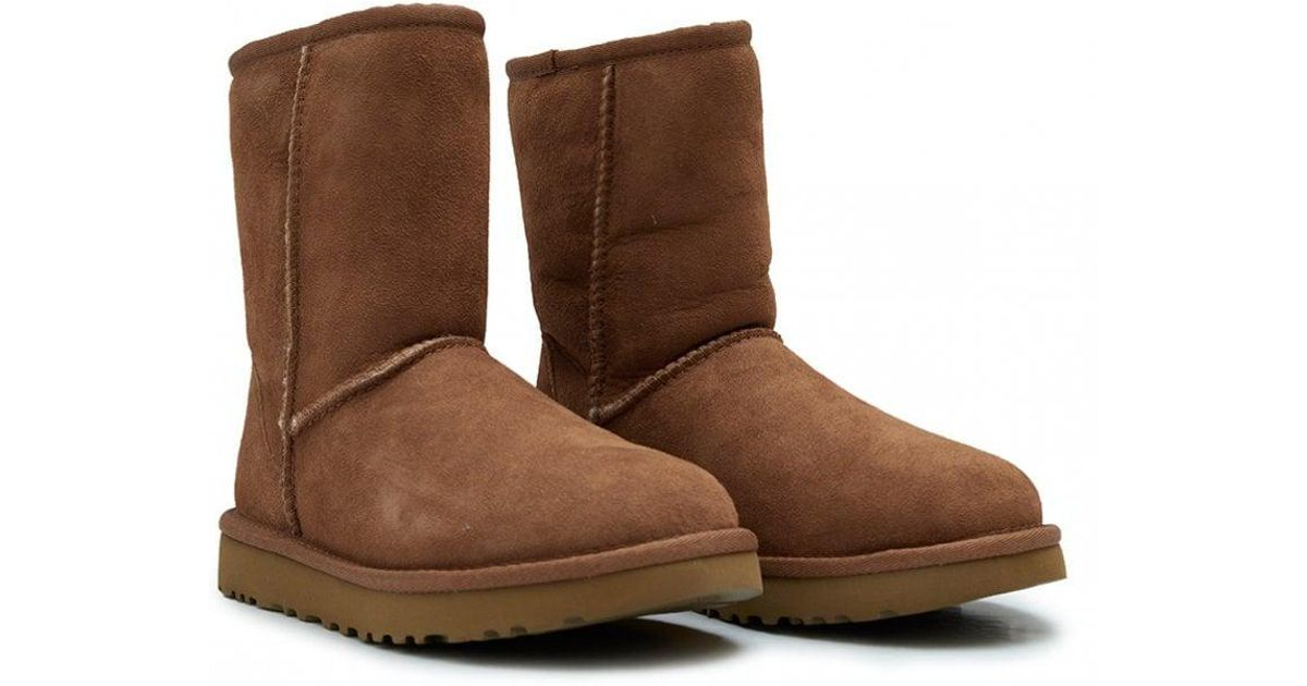 a52a338bf03 Lyst - UGG New Classic Short Shearling Boots in Brown - Save 28%
