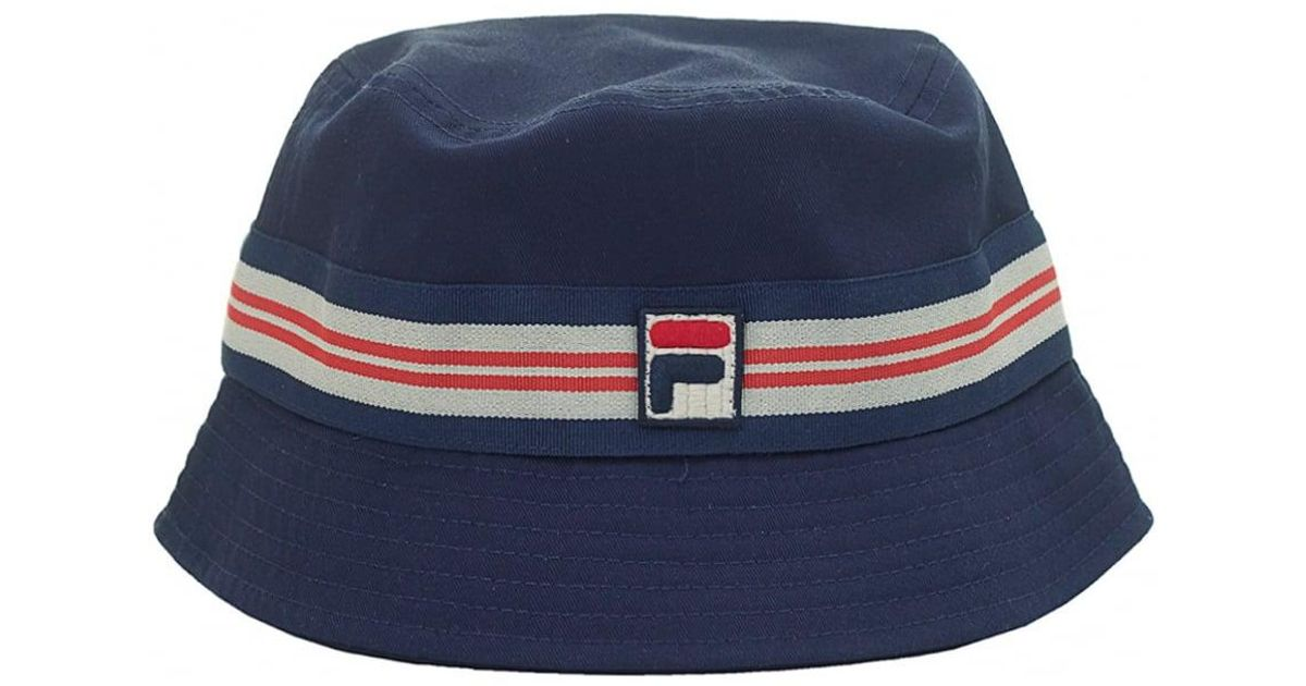 ... where to buy lyst fila vintage bucket hat in blue for men b7cd8 b5b34 7d0790731a64