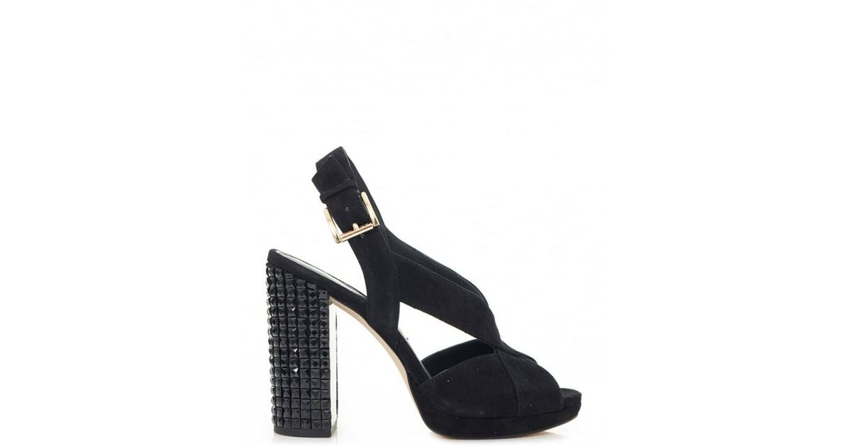 f0cac735e6ad Lyst - Michael Kors Becky Platform Studded Heel Shoes in Black