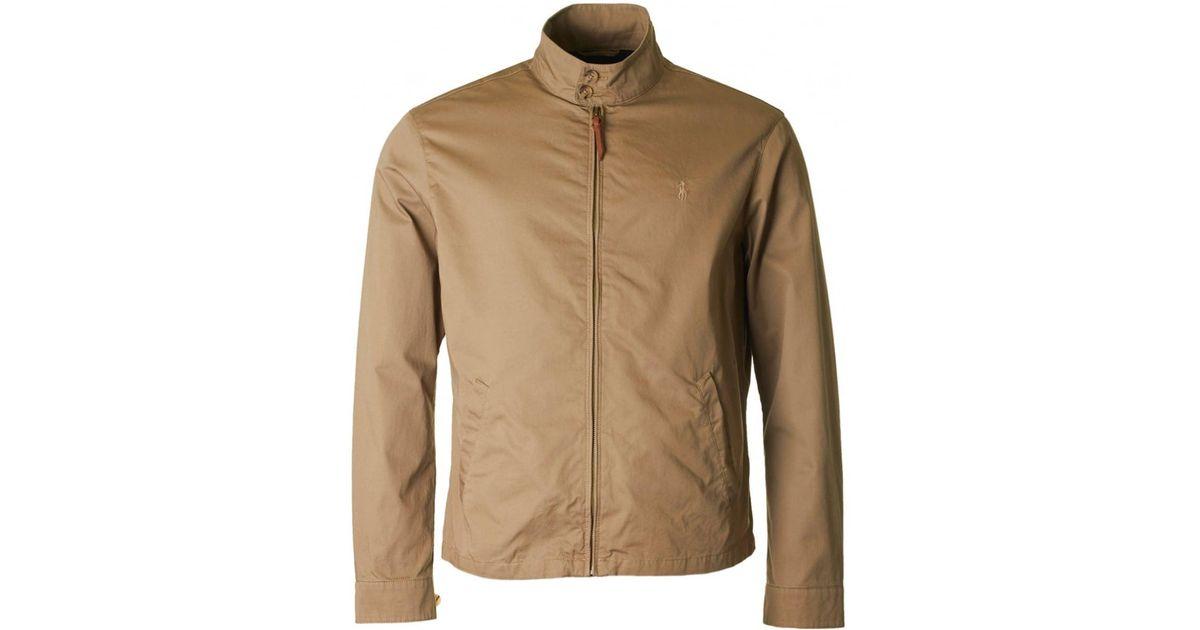Biswing Ralph Lauren Harrington Men For Jacket Polo Natural Lyst reoxBdCWQ