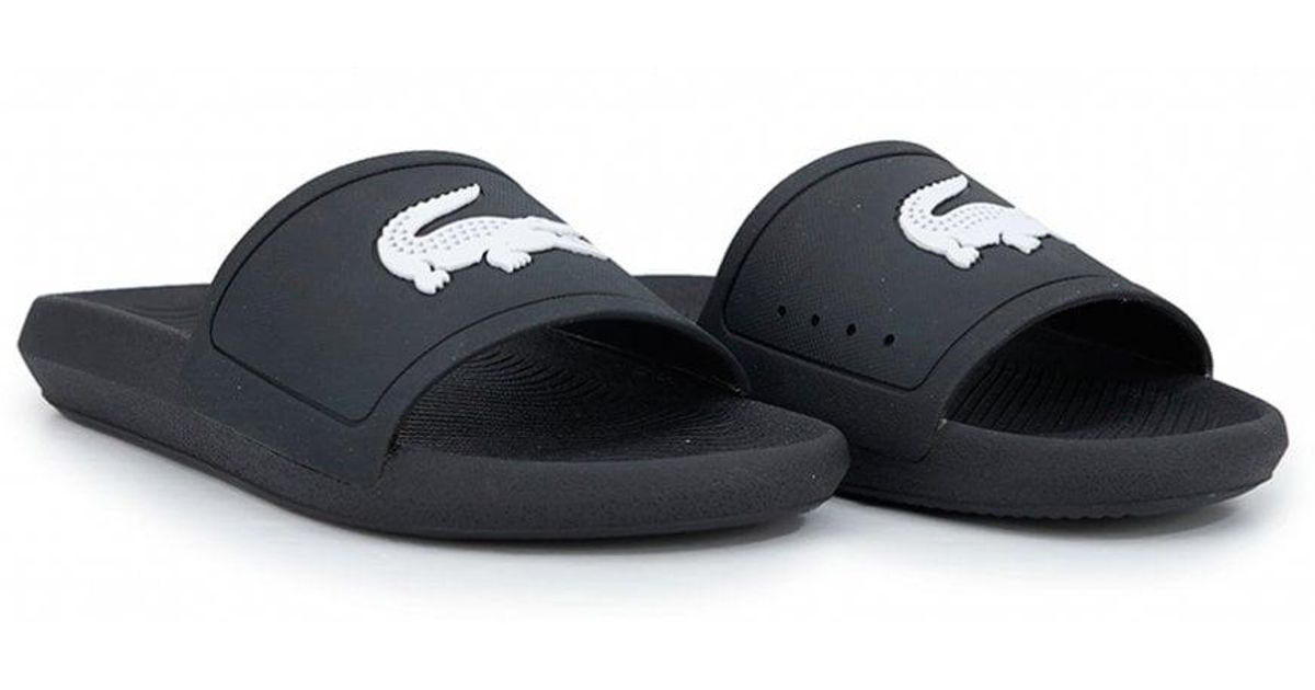 40be8b7086ef Lacoste Black/white Croco 119 1 Cma Sliders in Black for Men - Save 4% -  Lyst