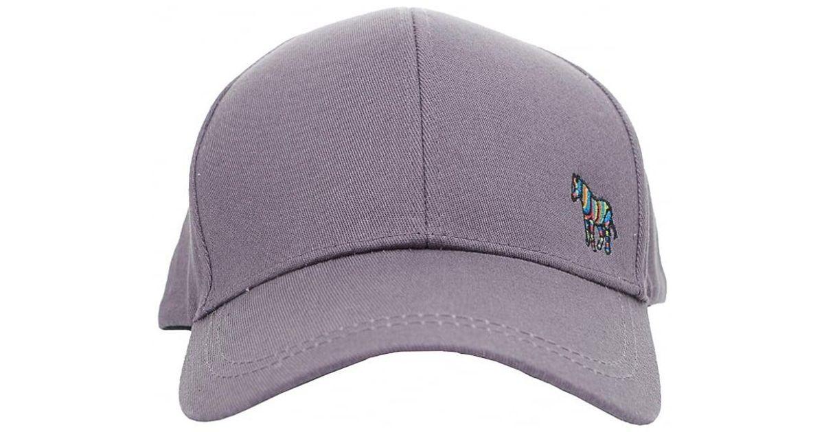 843460a1165 Paul Smith Zebra Baseball Cap in Gray for Men - Lyst