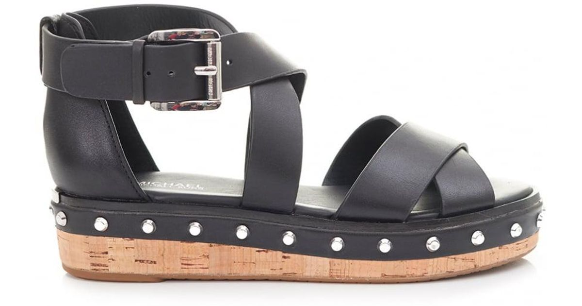 200c9a90466d Lyst - Michael Kors Darby Chunky Stud Sandals in Black