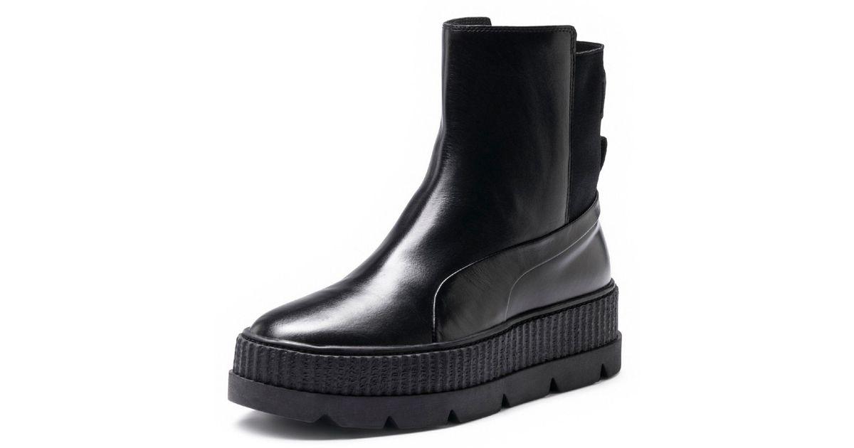 b8ef4f934eae Lyst - PUMA Fenty Men s Chelsea Sneaker Boot in Black