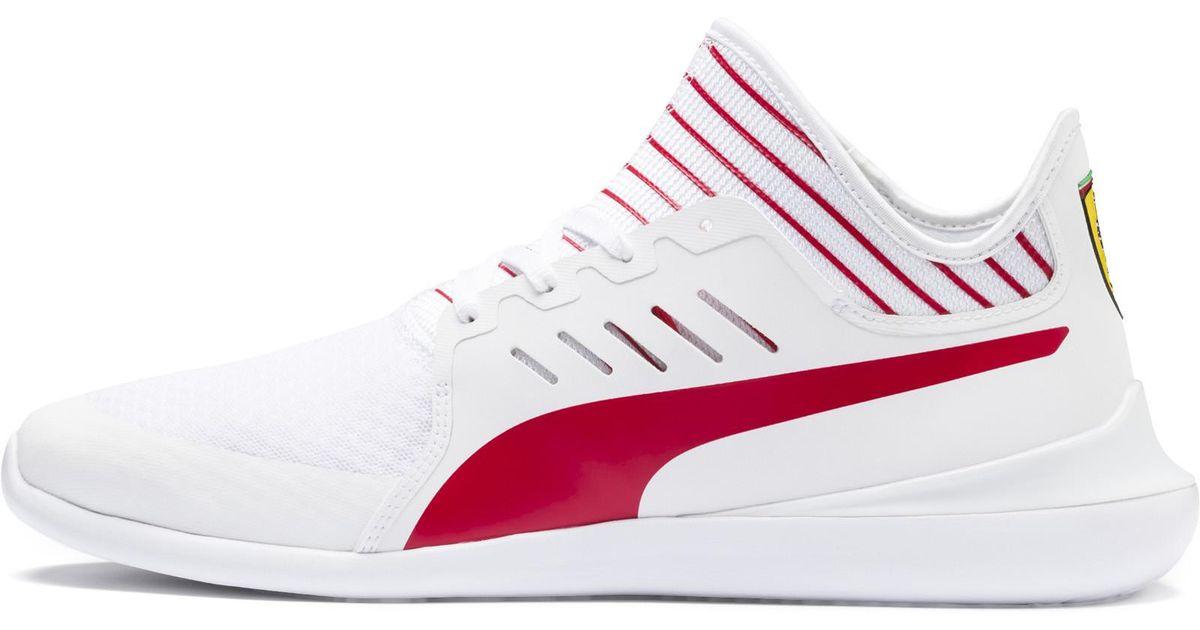 f782d5f8d48f81 Lyst - PUMA Scuderia Ferrari Evo Cat Mace Sneakers in White for Men - Save  27%