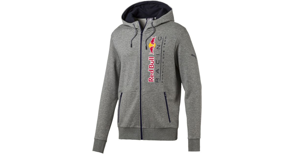 91be3988eba9 Lyst - PUMA Red Bull Racing Lifestyle Hooded Sweat Jacket in Gray for Men