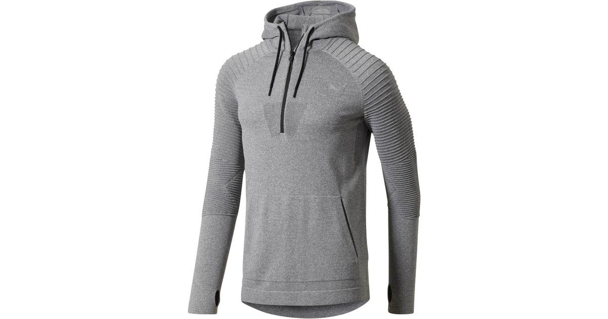 16c3af183e91 Lyst - PUMA Evoknit Energy Men s Half Zip Hoodie in Gray for Men