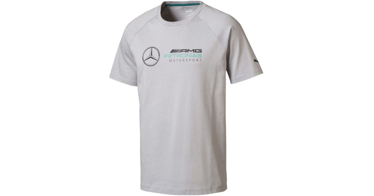 502e06aa146 PUMA Mercedes Amg Petronas Men's Logo Tee in Gray for Men - Lyst