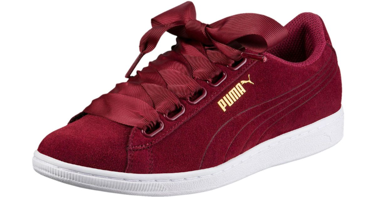 Lyst - PUMA Vikky Ribbon Women s Sneakers in Red cec6852c7