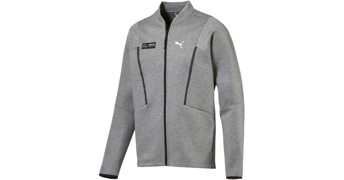 PUMA Gray Mercedes Amg Petronas Sweat Jacket for men