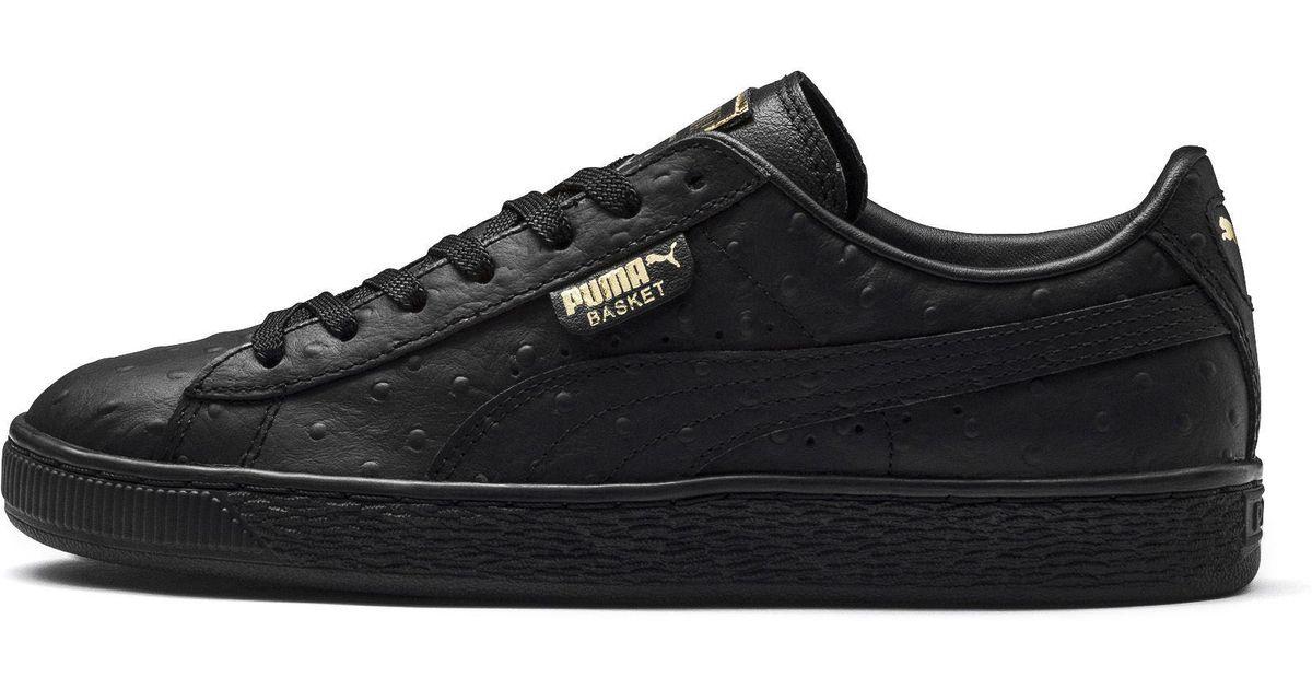 c007b04353e Lyst - PUMA Basket Ostrich Sneaker in Black