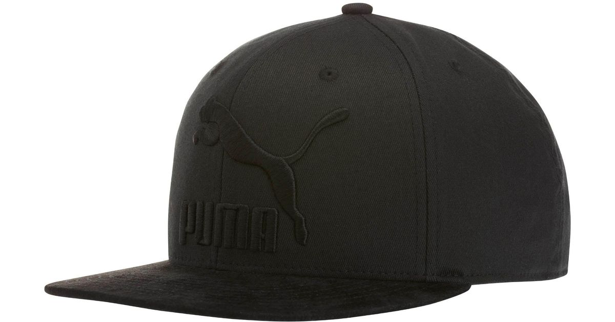 3ce1f15db7d ... sale lyst puma suede 110 snapback hat in black for men 986ec acc45