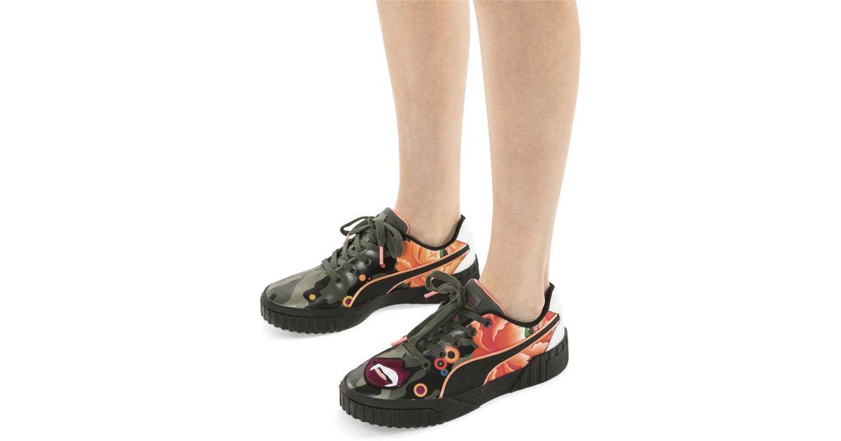 1915186d516 PUMA X Sue Tsai Cali Peonies Camo Women's Sneakers in Black - Lyst
