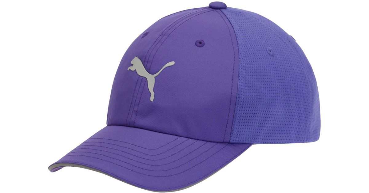 Lyst - PUMA Mesh Running Hat in Purple for Men e1bf18f2ff3