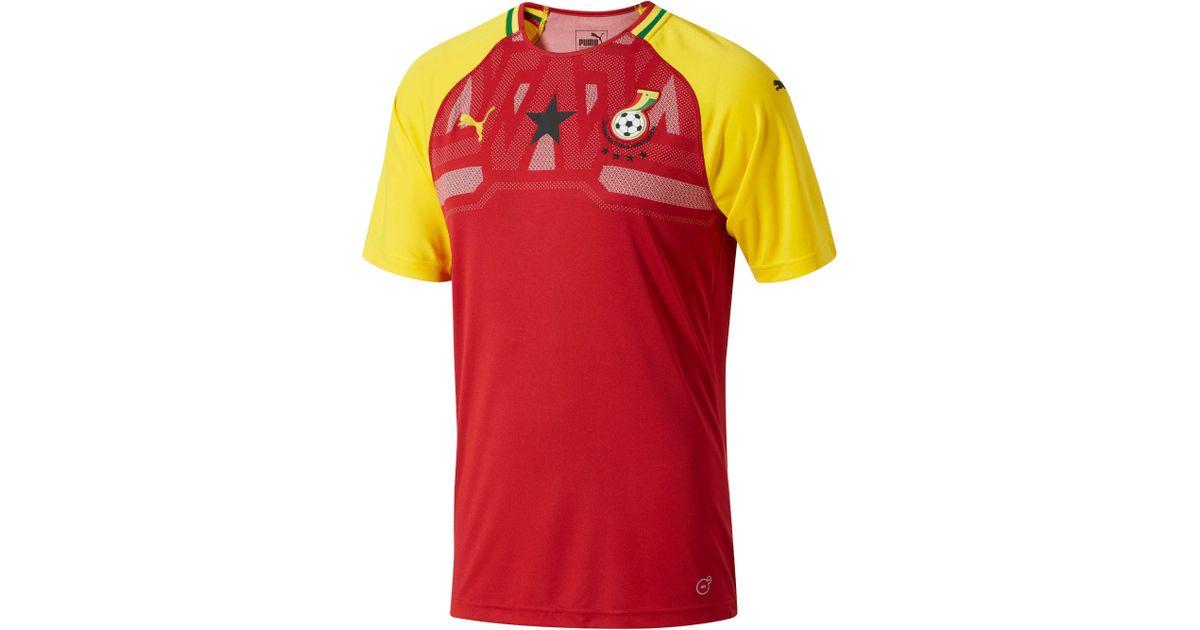 11b8220b9 Lyst - PUMA S Gfa Ghana Home Shirt Replica Ss in Red for Men