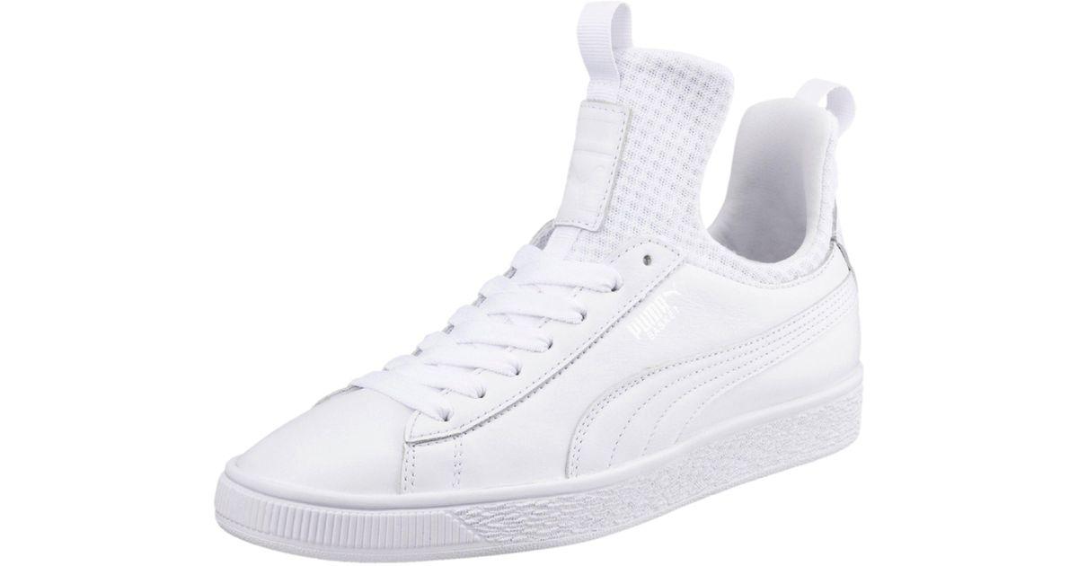e694e1430cc Lyst - PUMA Basket Fierce En Pointe Women s Shoes in White
