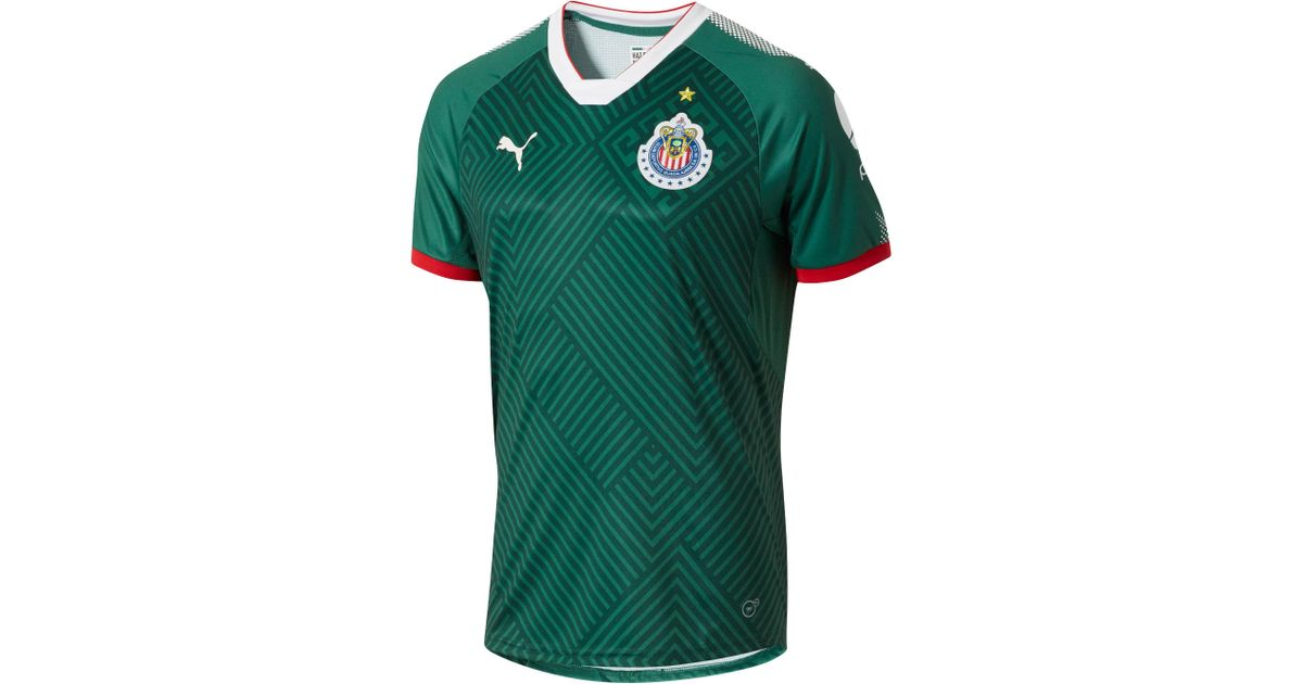 uk availability 0b875 e2694 PUMA - Green 2017/18 Chivas Third Authentic Jersey for Men - Lyst