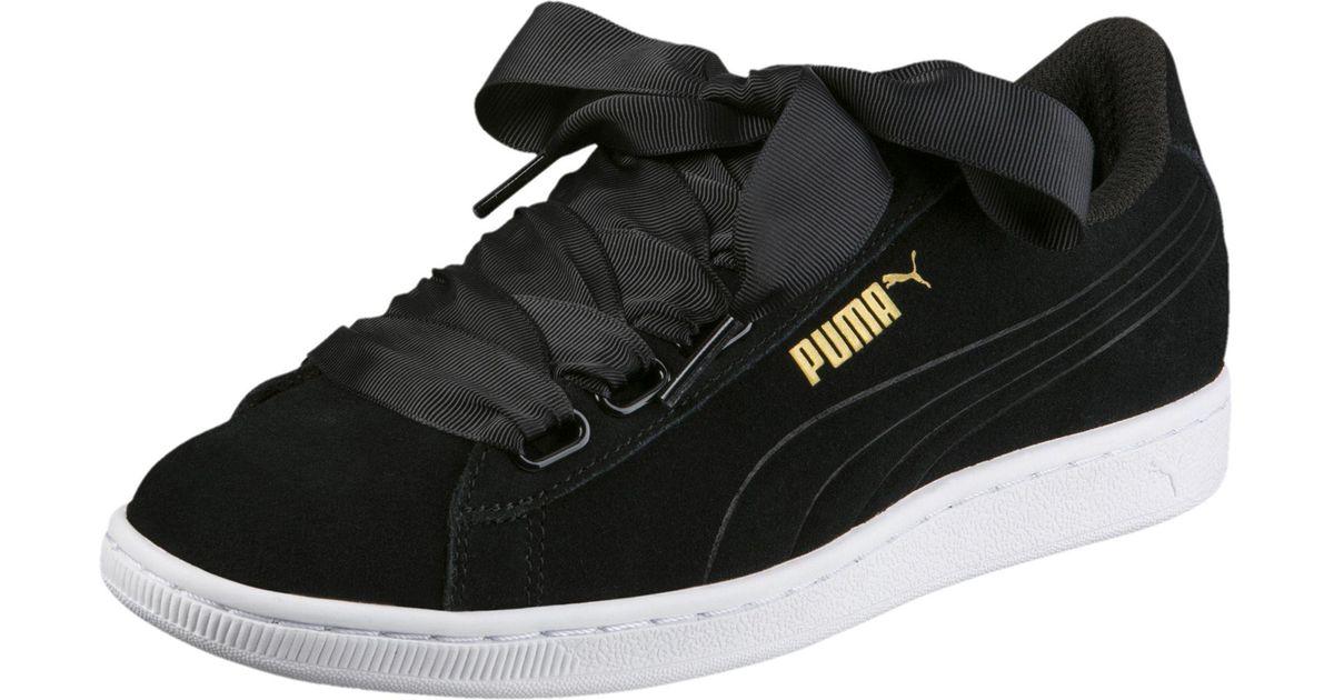 5a239bb0a29 Lyst - PUMA Vikky Ribbon Women s Sneakers in Black