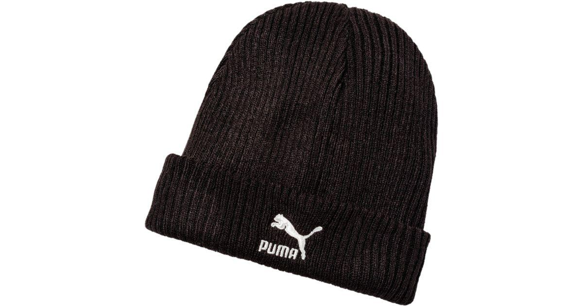 Lyst - PUMA Archive Beanie Docker in Black for Men f2601ad9e8dd