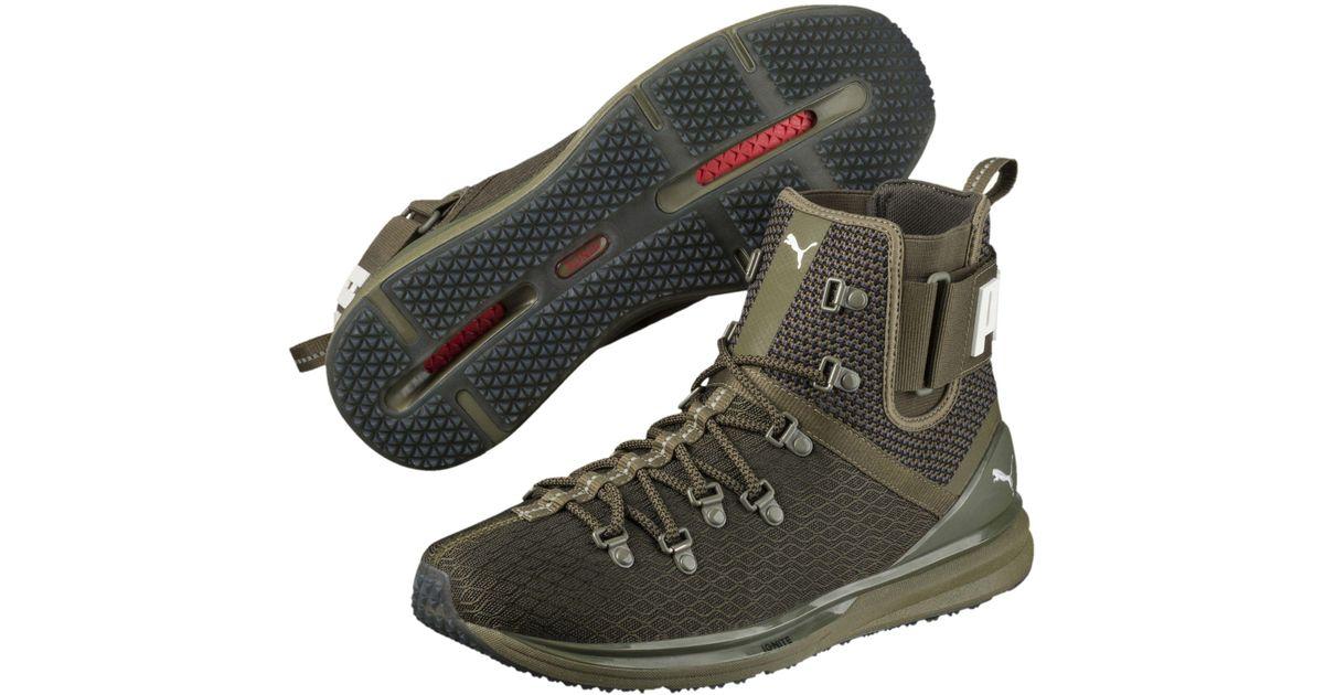 56cb2b85e4e3 Lyst - PUMA Ignite Limitless Men s Sneaker Boots in Green for Men