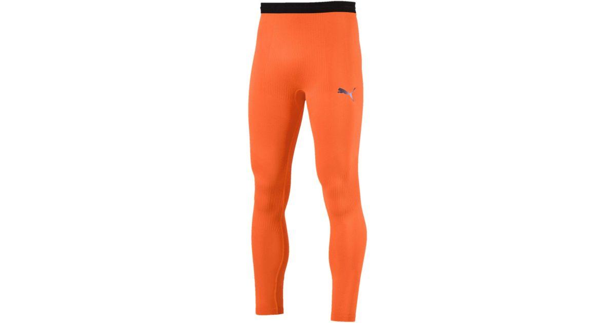 181cf53deb044 PUMA Ftblnxt Long Men's Training Tights in Orange for Men - Lyst