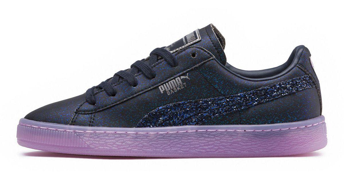 5eec135bd2f Lyst - PUMA X Sophia Webster Basket Glitter Princess Women s Sneakers in  Blue