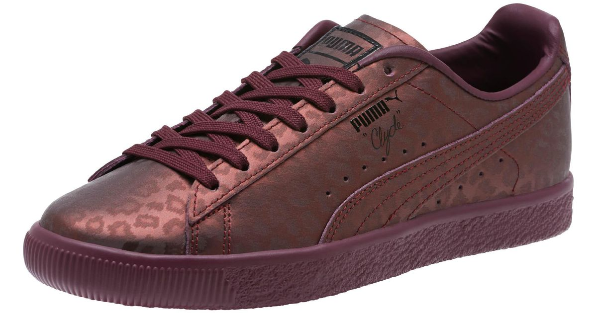 60c7ab5c8f8 Lyst - PUMA Clyde Sheer Animal Women s Sneakers in Red