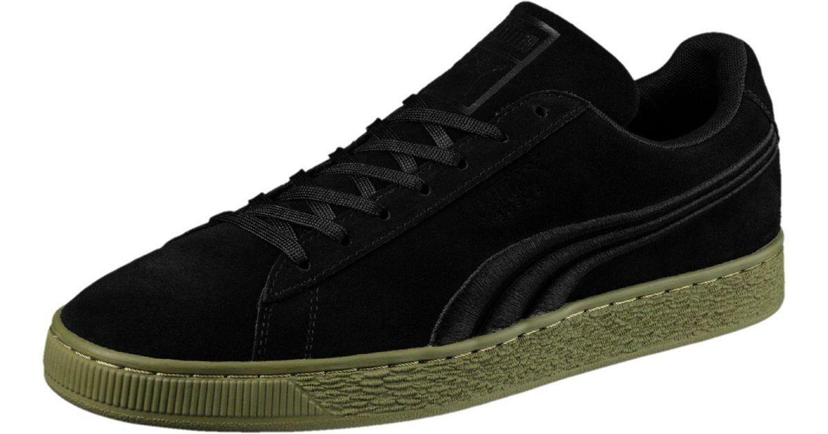 f3a7a90bfa99 Lyst - PUMA Suede Classic Badge Flip Sneakers in Black for Men