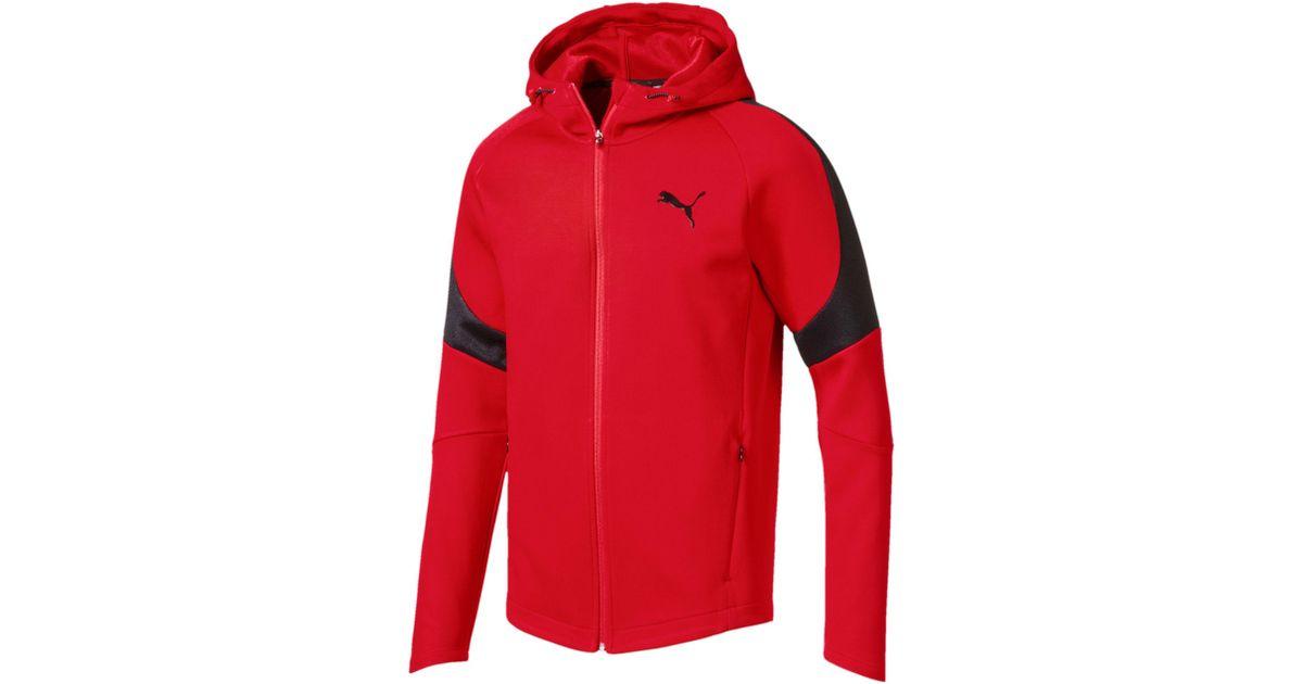 b70c633b3af090 Lyst - PUMA Evostripe Move Men s Full Zip Hoodie in Red for Men