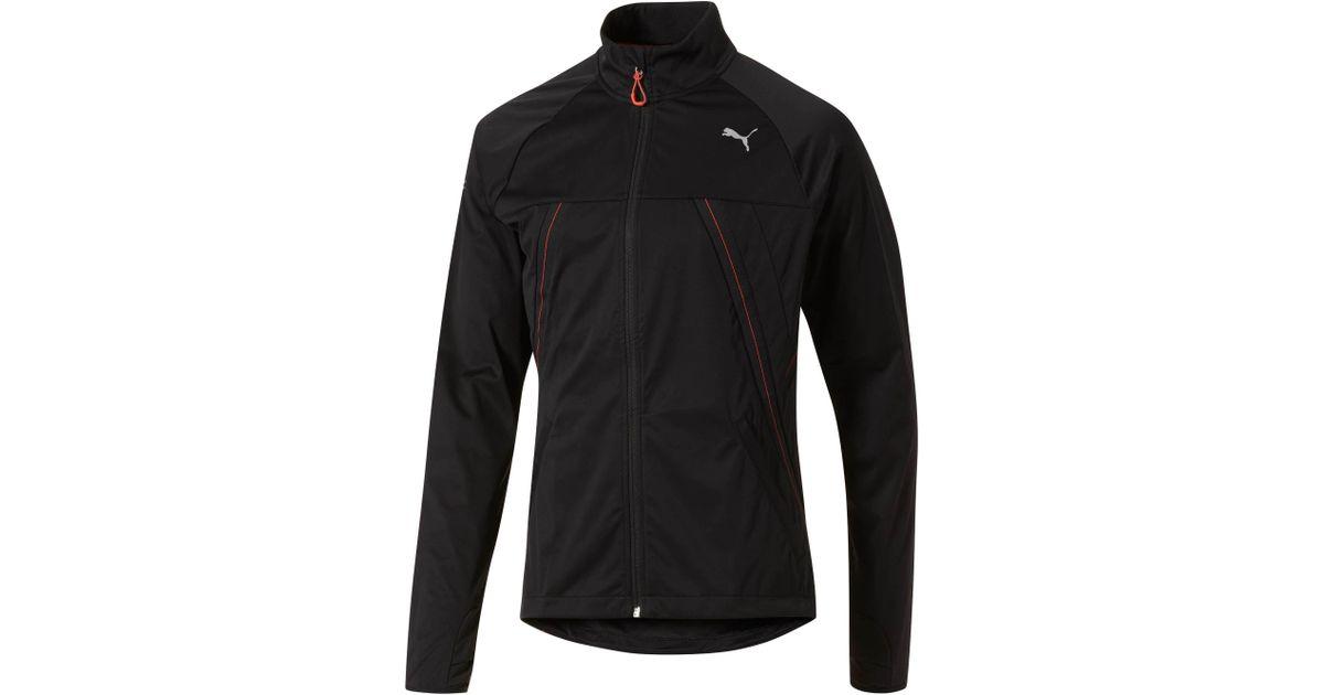 Puma PR Windbreaker Running Jacket Mens Black