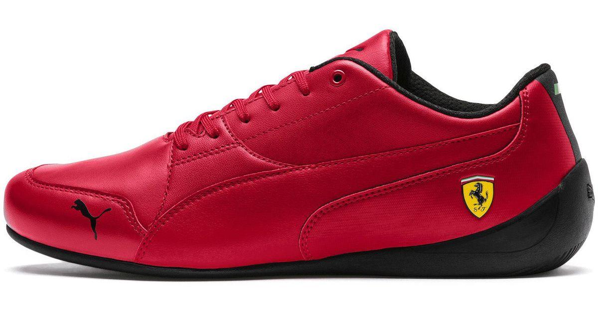 Lyst - PUMA Ferrari Drift Cat 7 Sneakers in Red for Men 6ae41d97f