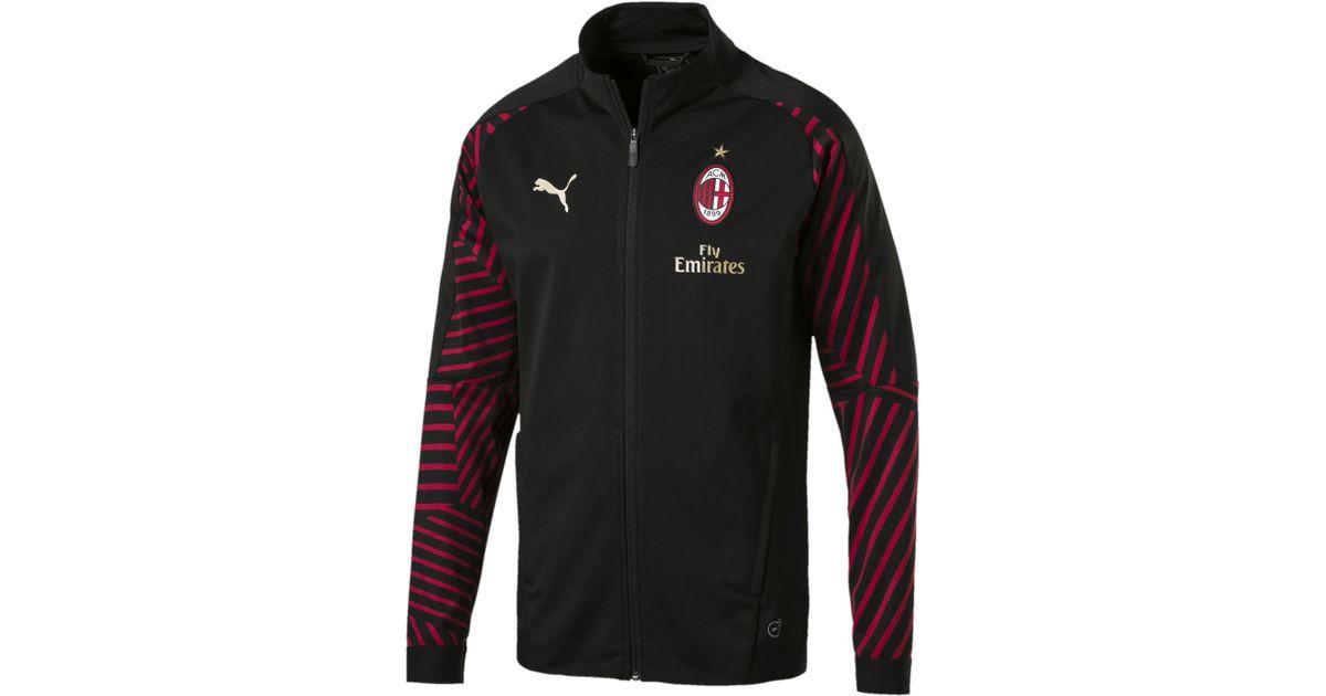 2489215231f PUMA Ac Milan Men s Stadium Jacket in Black for Men - Lyst
