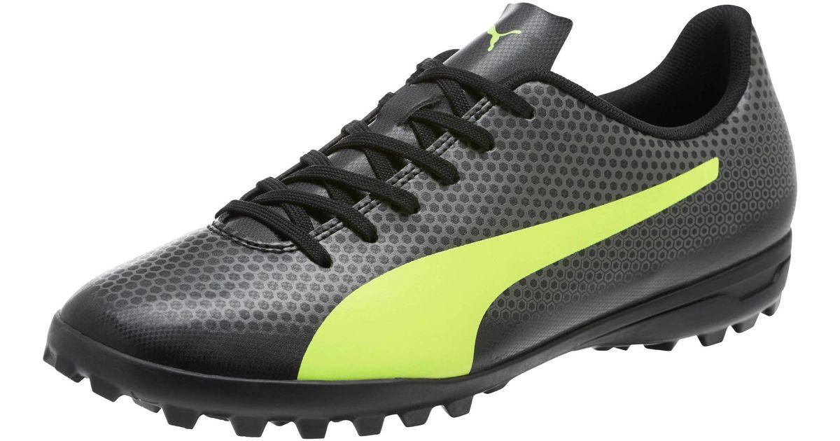 b52c6869046 PUMA Spirit Tt Turf Soccer Shoes in Black for Men - Lyst